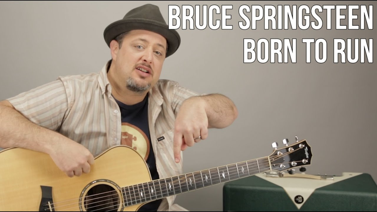 Guitar Lesson For Born To Run By Bruce Springsteen How To Play