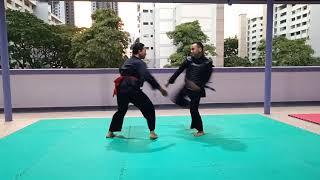 seligi tunggal kemuning olahraga(sparring) some basic technique