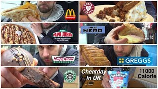 11000 Calorie Challenge In UK - Italiano Cheat Day (ENG SUB)