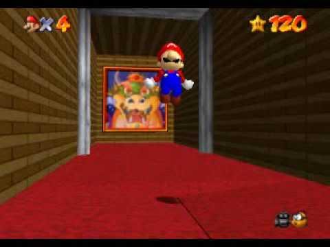 Super Mario 64 Getting Behind The Trapdoor Non Tas Youtube