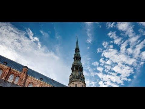 Захватывающая панорама с башни Св. Петра | Рига, Латвия | Riga, Latvia  [HD]