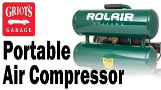 griot s garage portable 4 2 gallon air compressor with an alfa romeo 8c