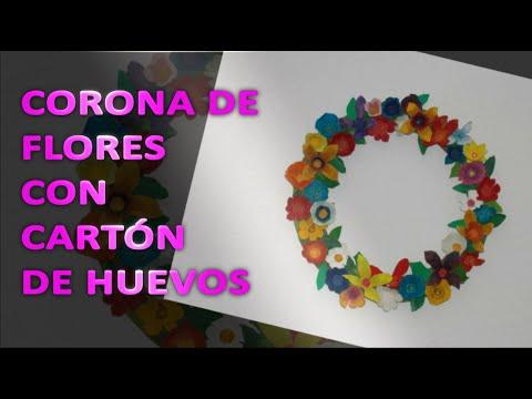 Corona de flores de cart n youtube - Coronas de flore ...