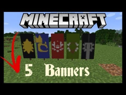 Minecraft 5 medieval banners