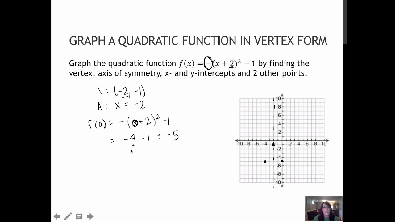 65 graph a quadratic function written in vertex form 31 youtube 65 graph a quadratic function written in vertex form 31 falaconquin