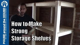 How to make a solid heavy duty shelving unit using only 2 types of timber or wood. In this video tutorial I show how to make a solid