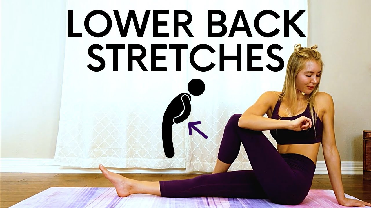 Lower Back Stretches for Fast Pain Relief & Stress, Yoga Style Stretches