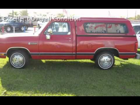 1989 Dodge RAM 100 RAM 100 for sale in FORT MYERS, FL