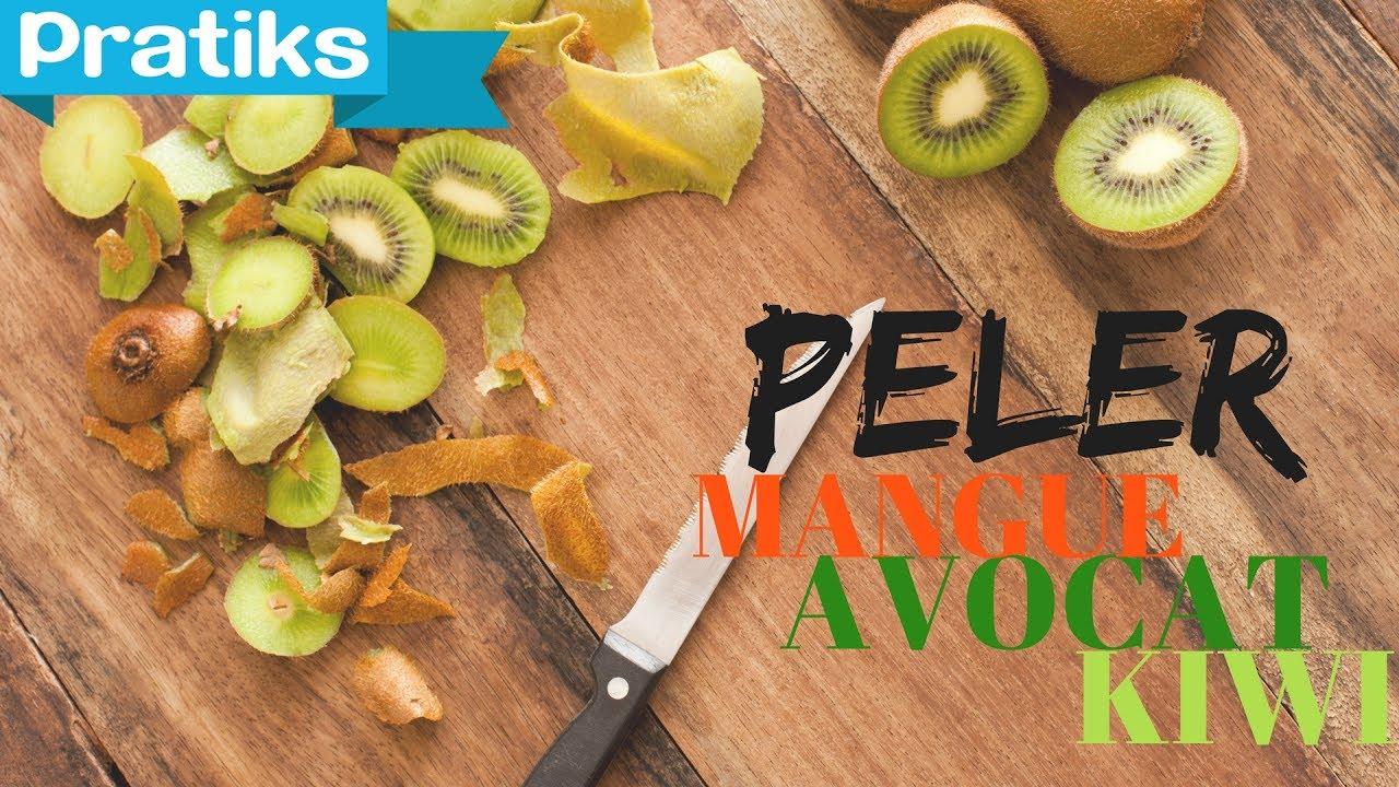 Comment Pousse Les Avocats comment peler un kiwi, un avocat ou une mangue facilement - gaël gagne du  temps