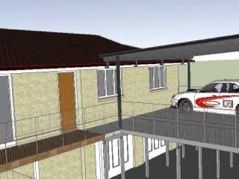 Brisbane Carport Deck And Flyover Roof By Adaptit Youtube