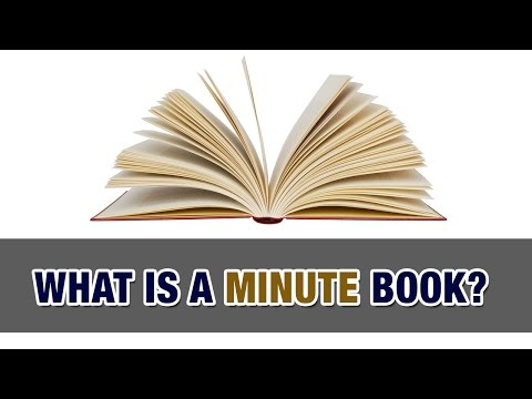 What's a minute book? and why does your corporation need one? - Tax Tip Weekly