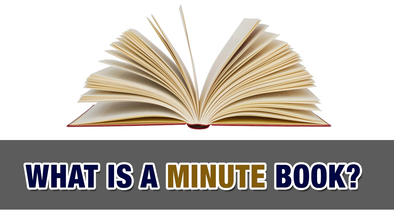 what s a minute book and why does your corporation need one tax