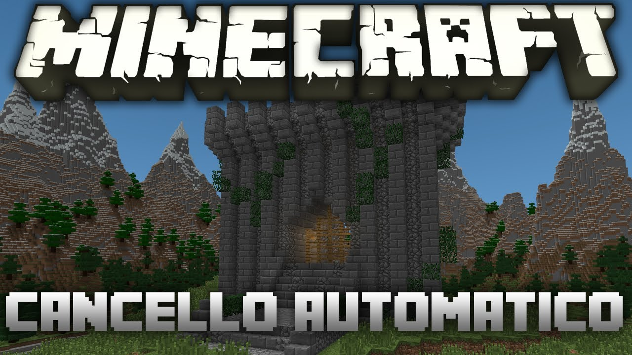Cancelletto Minecraft : Minecraft tutorial come costruire un cancello automatico youtube