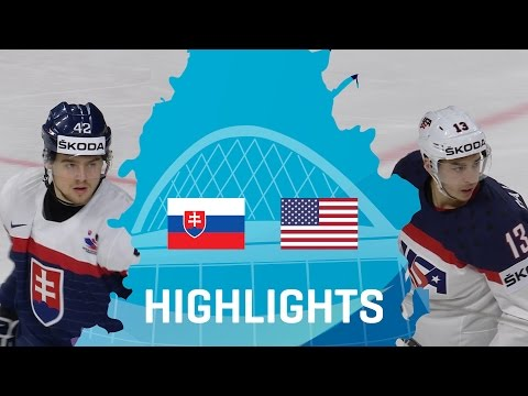 Slovakia - USA   Highlights   #IIHFWorlds 2017