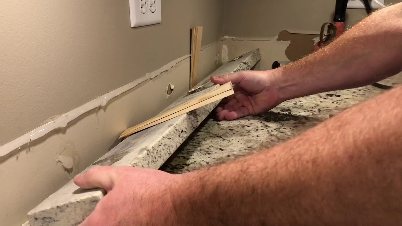 - How To Safely Remove Granite Backsplash - YouTube
