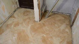 Раскладка плитки по диагонали,кухня,коридор,прихожая(В этом видео подробно показано и рассказано как нужно укладывать плитку по диагонали в кухне и прихожей..., 2015-09-27T18:06:29.000Z)
