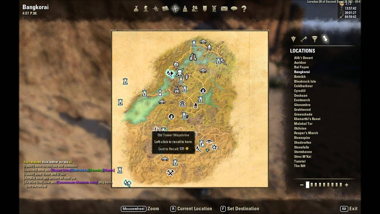 Bangkorai Ce Treasure Map ESO: Bangkorai CE Treasure Map Location   YouTube
