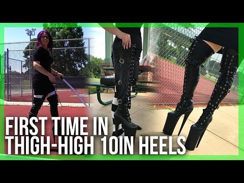 EXTREME Heels: Trying on and Walking in 10inch (25cm) Pleaser Beyond-3028