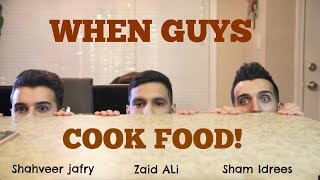 When guys COOK food...
