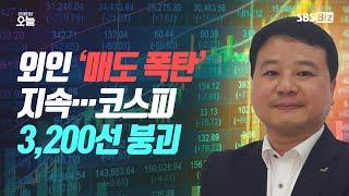 [마감시황] 외인 '매도 폭탄' 지속…코스피 3,200…