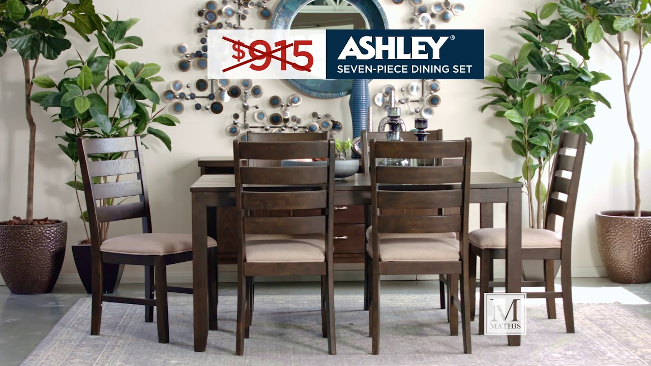 Navy And Gold Dining Room, Spring Savings On Dining Sets Www Mathisbrothers Com Youtube