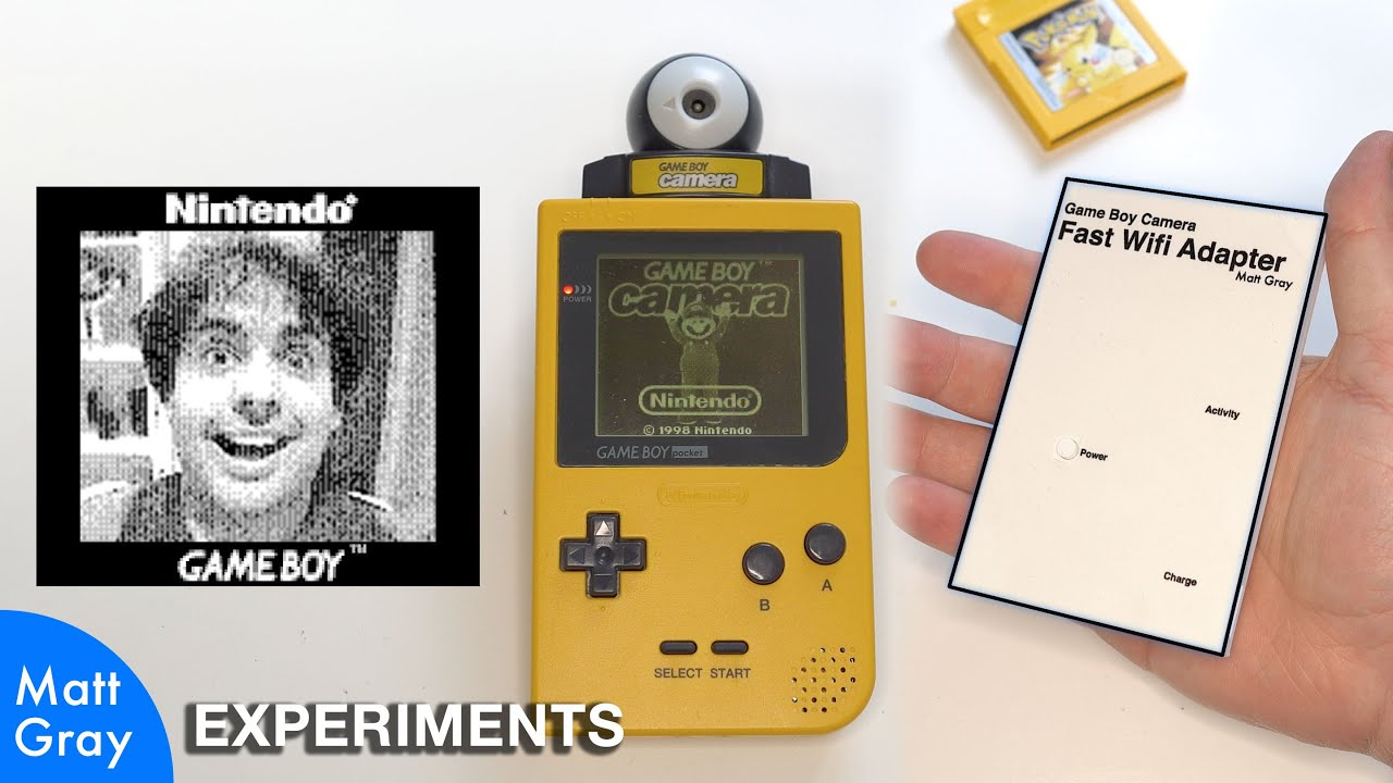 Youtube Thumbnail Image: The fastest way to get photos off a Game Boy Camera?
