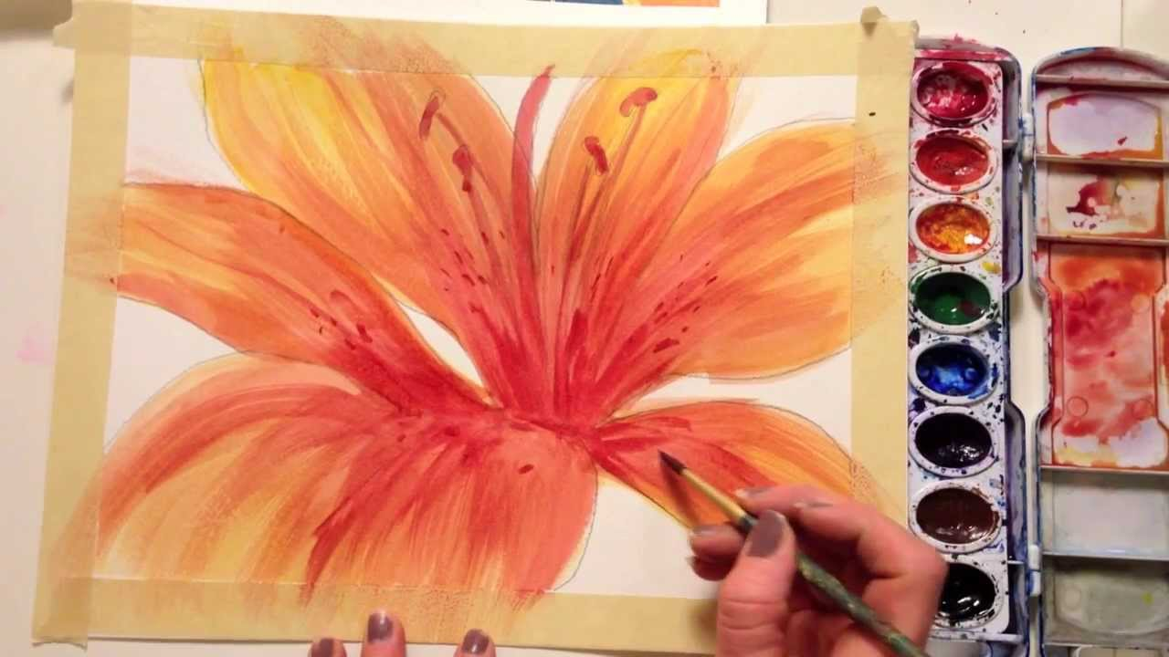 How To Paint A Flower With Watercolor