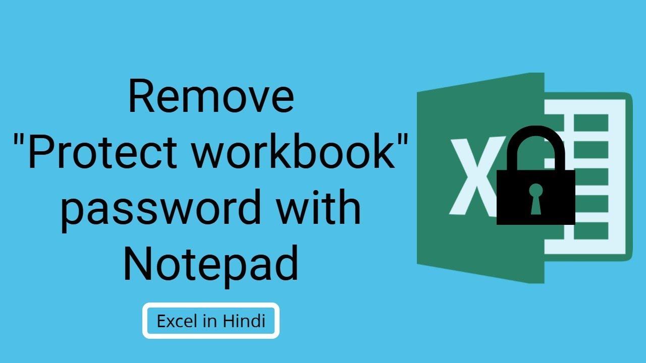 forgot excel workbook password