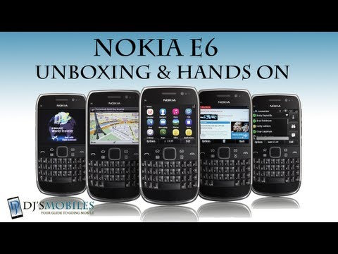 Nokia E6 - Unboxing and Hands on