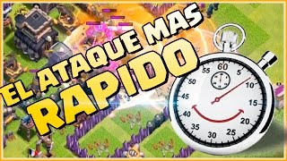 EL ATAQUES MAS RAPIDO DEL MUNDO 100% - RETOS MIX #26 - Clash of Clans - Espanol - CoC