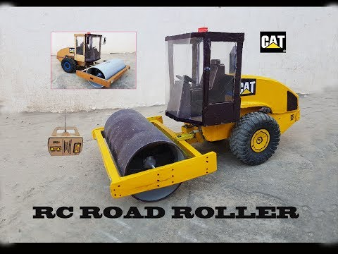 WOW! Super RC Road Roller  || How to make Cardboard Caterpiller Road Roller || DIY  at home