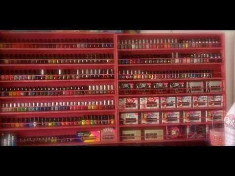 DIY wood nail polish display rack tutorial ^_^