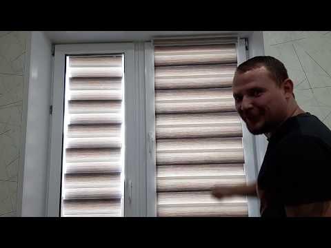 """Установка рулонных штор """"Уют"""" и защёлки-держателя на балконную дверь и окно"""