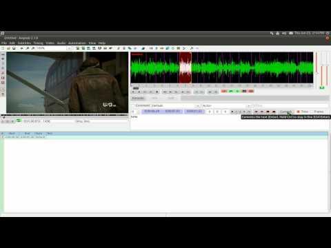 Aegisub - Advance Subtitle Editor - Ubuntu 10.10