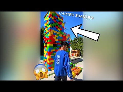 LOOK AT THIS THREE STORY LEGO HOUSE... FULL TOUR! #shorts - Jojo Sim