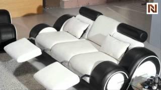 Contemporary Black And White Sofa Set Vgev4088-1