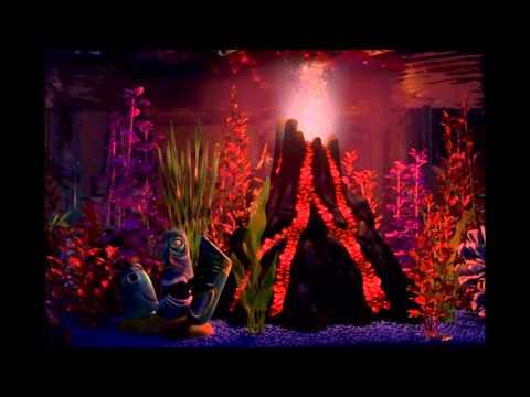 Finding nemo virtual aquarium volcano night youtube for Finding nemo fish tank