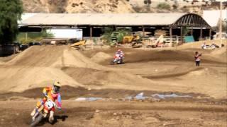Trey Canard at Milestone supercross track (raw)