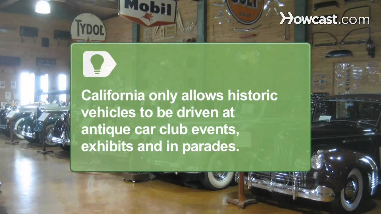 How to Register a Classic Car - YouTube