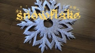 3d Origami - Snowflake - How To Make Instruction