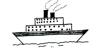 ship drawing easy simple draw pirate beginners children boat drawings boats paintingvalley webcomicms
