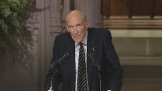 Sen. Alan Simpson eulogizes George H. W. Bush