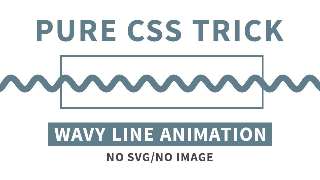 CSS Wavy Line Animation Effects | Wavy Line Loader Animation | Pure CSS  Trick
