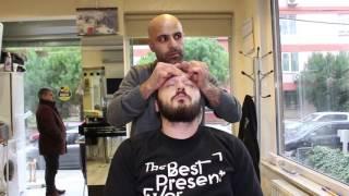 asmr turkish barber face head and body massage 11