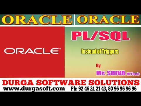 Oracle || Instead of Triggers by Siva