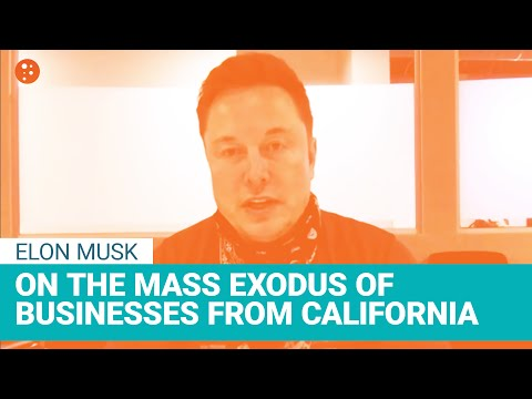 Elon Musk on the Mass Exodus of Business from California