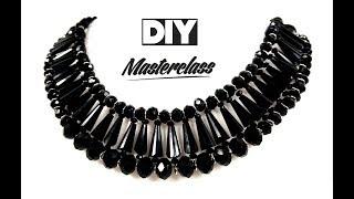 Шикарное Колье из Бисера, Бусин и Ронделей Своими Руками/ Necklace of beads!