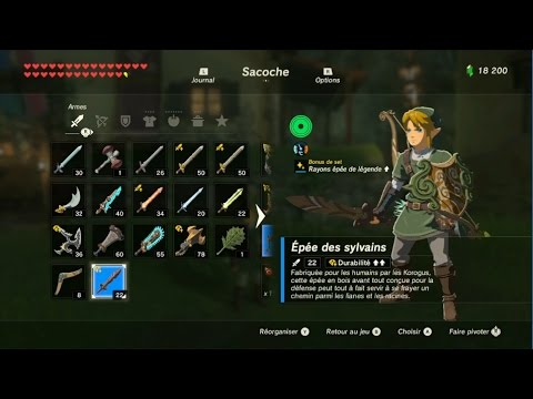 The Legend of Zelda: BotW - Emplacement des armes Korogu
