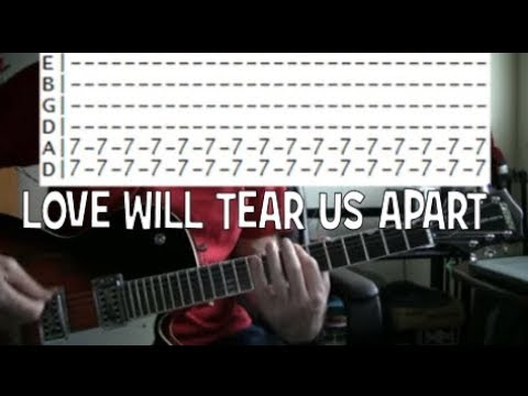 Joy Division Love Will Tear Us Apart Guitar Tab Chords Lesson Youtube