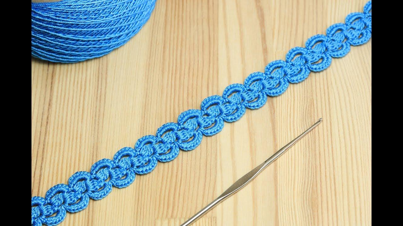 Ленточное кружево с пышными столбиками - вязание крючком How to Crochet for Beginners